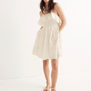 Madewell Embroidered Apron Ruffle Dress, Size 4